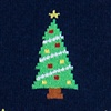 Navy Blue Carded Cotton Christmas Tree Sock