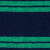 Navy Blue Carded Cotton Culver Stripe