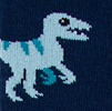 Navy Blue Carded Cotton Dino-mite Sock