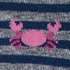 Navy Blue Carded Cotton Don't Be Shellfish Women's Sock