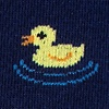Navy Blue Carded Cotton Feelin' Ducky Sock