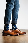 Rubber Ducky Navy Blue Sock Photo (2)