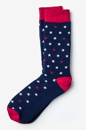 Home of the Brave Navy Blue Sock
