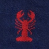 Navy Blue Carded Cotton Lobsters Sock