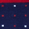 Navy Blue Carded Cotton Long Beach Dots
