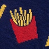 French Fries Navy Blue Sock