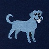 Navy Blue Carded Cotton Man's BFF