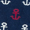 Navy Blue Carded Cotton Mini Anchors Sock