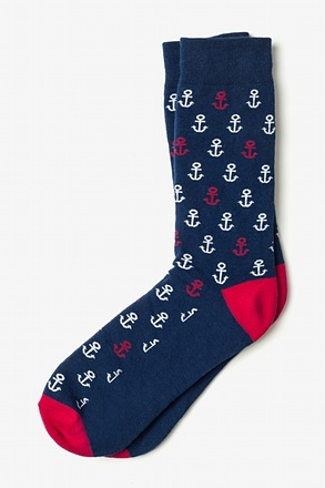 _Mini Anchors Navy Blue Sock_