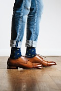 My Lucky | Shamrock Navy Blue Sock