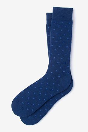 _Newton Navy Blue Sock_