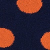 Navy Blue Carded Cotton Pasadena Polka Dot Sock