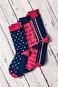 Patriot Stripe Navy Blue Sock Photo (1)