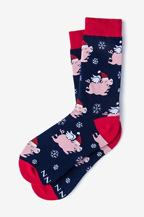 Pig-Mas Cheer Women's Sock