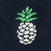 Navy Blue Carded Cotton Pineapples Sock