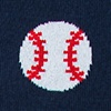 Navy Blue Carded Cotton Pitch, Please Baseball Sock