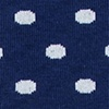 Navy Blue Carded Cotton Power Dots Sock