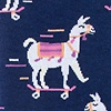 Navy Blue Carded Cotton Skateboarding Llama Sock