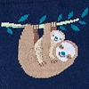 Navy Blue Carded Cotton Sloth Sock