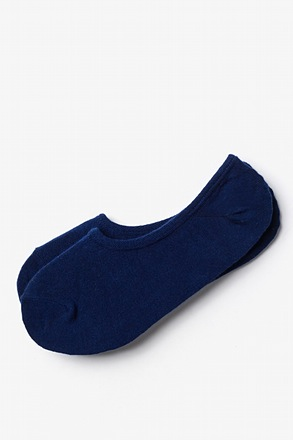 _Solid Navy Navy Blue No-Show Sock_