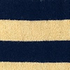 Navy Blue Carded Cotton Stanton Stripe Sock