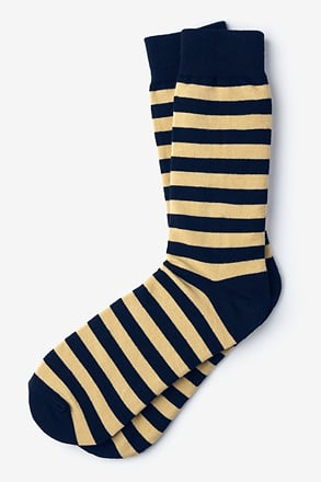 _Stanton Stripe Navy Blue Sock_