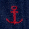 Navy Blue Carded Cotton Stay Anchored
