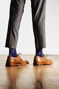 Straight Up & Dirty Navy Blue Sock Photo (2)