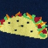 Navy Blue Carded Cotton Taco Sock