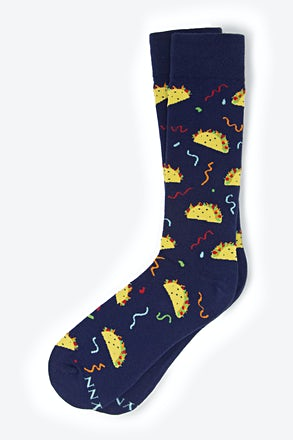 _Taco Navy Blue Sock_