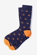 Navy Blue Carded Cotton Tip the Scales Women's Sock