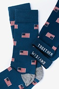 American Flags Navy Blue Sock Photo (3)