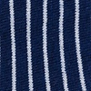 Navy Blue Carded Cotton Villa Park Stripe No-Show Sock