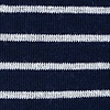 Navy Blue Carded Cotton Villa Park Stripe Sock