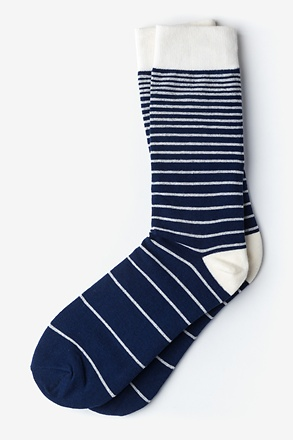 _Villa Park Stripe Navy Blue Sock_