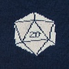 Navy Blue Carded Cotton Yes They're Natural D20 D&D