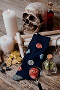 Yes They're Natural D20 D&D Navy Blue Sock