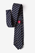 Arcola Navy Blue Extra Long Tie Photo (2)