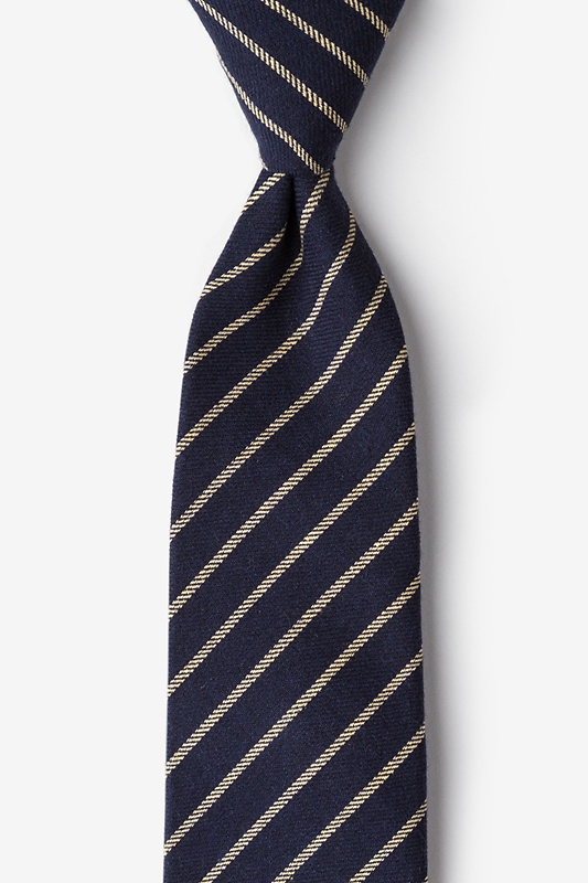Arcola Navy Blue Extra Long Tie Photo (0)