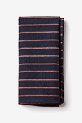 Navy Blue Cotton Arcola Pocket Square