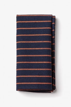 Arcola Navy Blue Pocket Square