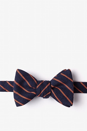 Arcola Navy Blue Self-Tie Bow Tie