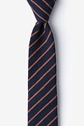 Navy Blue Cotton Arcola Skinny Tie