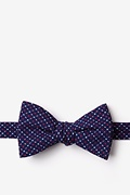 Navy Blue Cotton Ashland Bow Tie