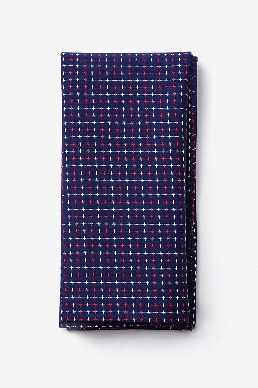 Ashland Navy Blue Pocket Square Photo (0)