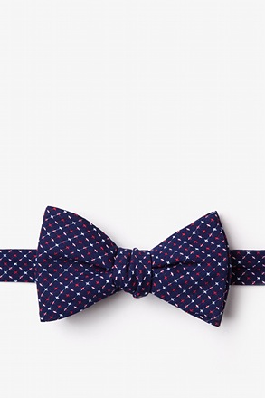 _Ashland Navy Blue Self-Tie Bow Tie_