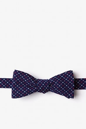 Ashland Navy Blue Skinny Bow Tie