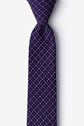 Navy Blue Cotton Ashland Skinny Tie