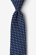 Navy Blue Cotton Bandon Extra Long Tie