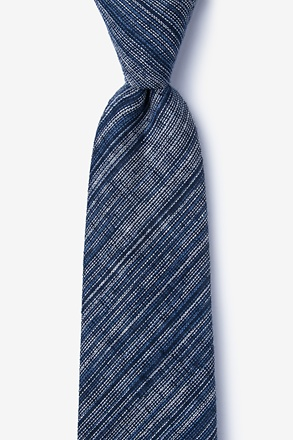 Bates Navy Blue Extra Long Tie
